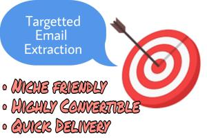 Portfolio for extract niche friendly targeted email