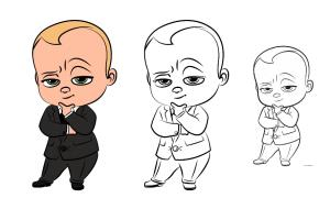 Portfolio for professional cartoon characters drawing