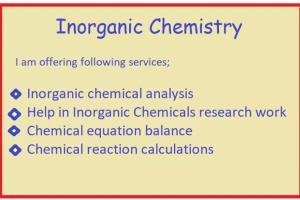 Portfolio for Help in Chemistry Laboratory work