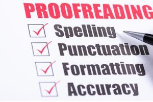 Portfolio for graphic designer proof reading expert.