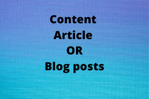 Portfolio for engaging content article or blog posts