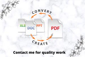 Portfolio for convert document to pdf or pdf to other
