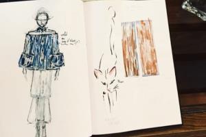 Portfolio for hand drawn fashion illustrations
