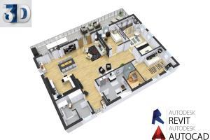 Portfolio for I will design 2d floor plan and 3d floor