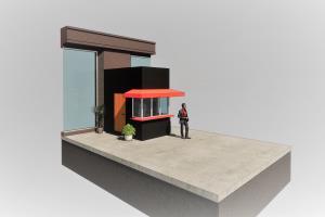 Coffee booth design, Tashkent UZ