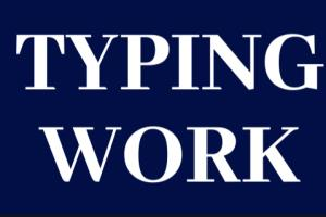 Portfolio for Any kind of Typing work