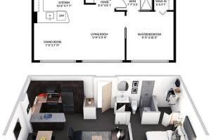 Portfolio for 2D Floor Plan+3D Architectural Rendering