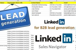Portfolio for B2B Lead Generation ✔Web Research Expert