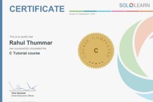 I completed C language course