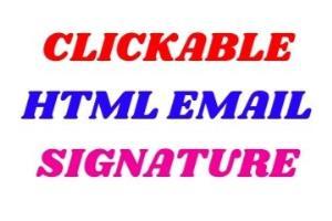 Portfolio for I will create clickable email signature