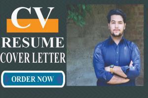 Portfolio for design a professional cv, resume, cover