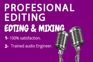Portfolio for edit master audio for your podcast