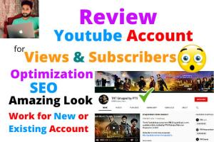 Portfolio for Review your Youtube Channel for growth