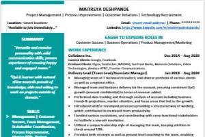 Portfolio for Resume/Profile Writer, Content Writer