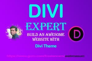 Portfolio for Divi customize theme using divi builder