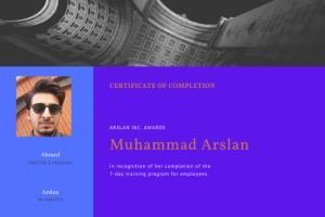 Portfolio for certification design
