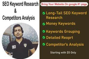 Portfolio for SEO Keyword Research-Competitor Analysis