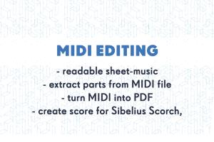 Portfolio for Editing and creating score from MIDI