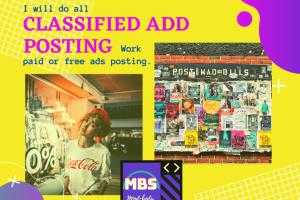 Portfolio for Classified Free or Paid Ads Posting