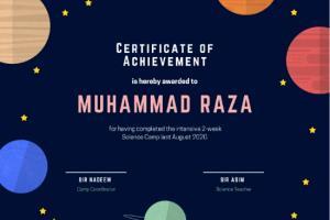 Portfolio for design a professional certificate